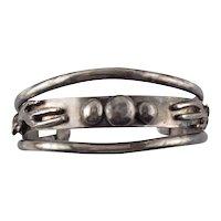 Custom Designed & Signed Sterling Silver Cacti Cactuses Cuff Bracelet