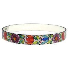 Vintage Handmade in Austria - P.M. Hand Painted Bangle Bracelet