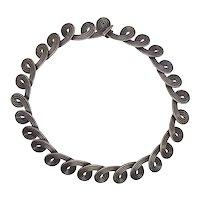 "Los Castillo #832 Mexico Sterling Silver Swirl Necklace 15 1/2"""