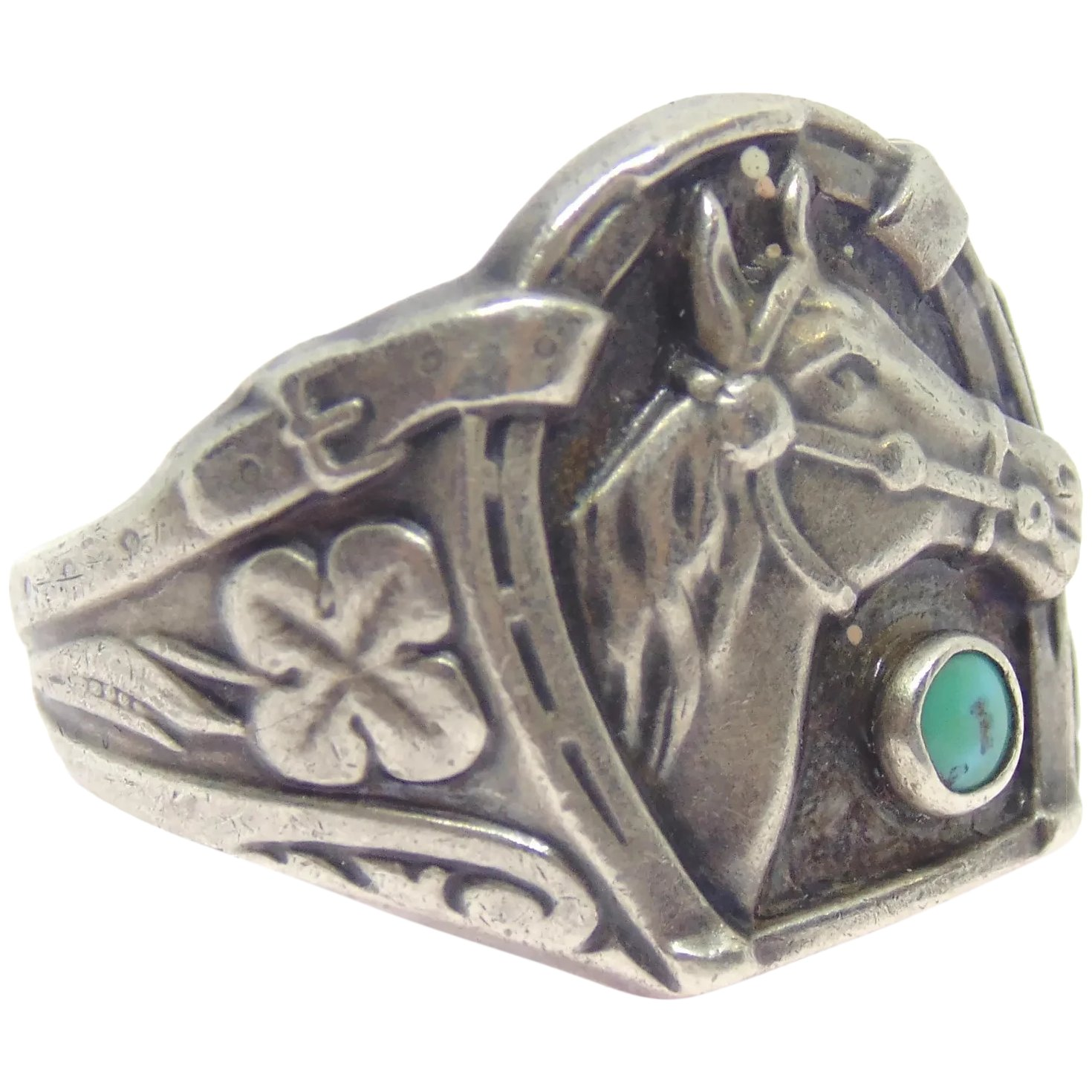 Native American Sterling Silver Lucky Horseshoe Horse Ring Jewelry Hunters Ruby Lane