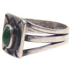 Fred Harvey Era Native American Sterling Silver Whirling Log Ring Size 6