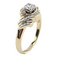 14K Yellow Gold 1/2 CTW Diamond Ring Size 6 3/4