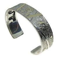 Cody Hunter 14K & Sterling Silver Story Teller Horse Cuff Bracelet ***Double Sided Design***