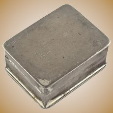 Voulpte USA Sterling Silver Hinged Pill Box Container