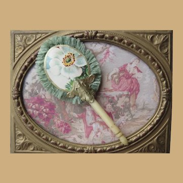 """3"""" Fan with Antique Bone Handle for your Huret"""
