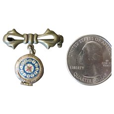 """Miniature 1"""" Antique Style Watch Pin"""
