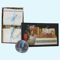 Antique Style Miniature Boxed Set of Stationery with Envelopes and Writing Papers