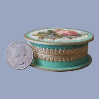 """Gorgeous Little Handmade Jewel Carton in """"Huret Green"""" and Gold"""