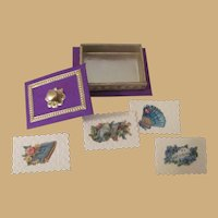 Beautiful Miniature Victorian Style Boxed Set of Calling Cards