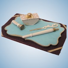 "Miniature ""Ivory"" Handle Desk Set"