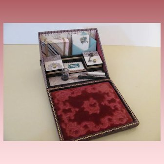 Miniature Papeterie or Stationery Lap Desk for Doll Display
