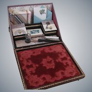 Reserved Listing for Sharon Miniature Papeterie or Stationery Lap Desk for Doll Display