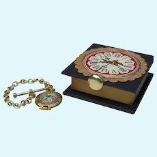 Miniature Antique Style Pocket Watch in Tiny Presentation Box