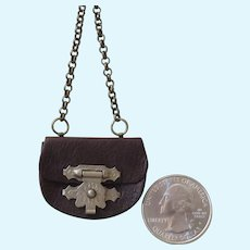 Miniature Antique Style Leather Purse