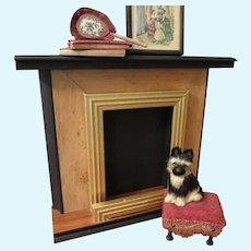 Fashion Doll Scale Wood Fireplace
