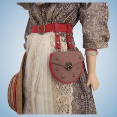 Chatelaine Style Hip Purse with Belt for French Fashion Doll