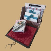 Miniature French Style Papeterie or Stationery Box with Miniature Book