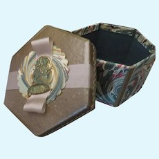Victorian Style Wrapped Christmas Package with Antique Seal