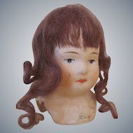 "3"" Vintage Paper Mache Doll Head Made in Germany"