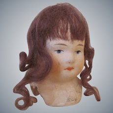 """3"""" Vintage Paper Mache Doll Head Made in Germany"""
