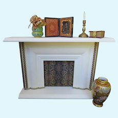 Elegant French Style Fireplace for your Antique Doll