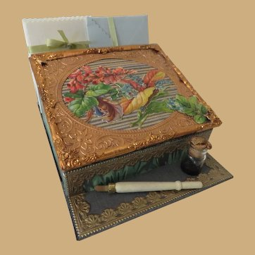 Miniature French Style Papeterie or Stationery Box