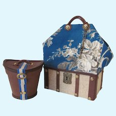 Sac du Voyage and Leather Hat Box Set for your French Fashion Doll