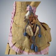 Miniature Artist Made Antique Style Walnut Purse