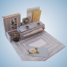 Miniature Desk Set with Stationery and Miniature Book