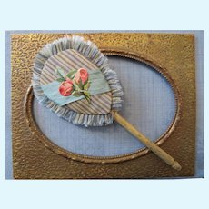 Miniature Silk Fan with Bone Handle for your French Fashion Doll