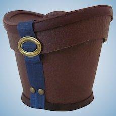 Miniature Leather Gentleman's Hat Box