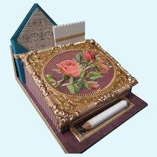 Miniature Antique Style Slant Front Stationery Box
