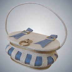Miniature Leather Purse or Sewing Basket for your French Fashion Doll
