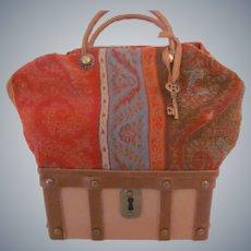 Sac du Voyage or Carpet Bag Valise