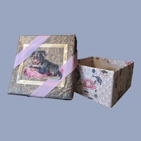 Charming Miniature Box with Puppy Scrap