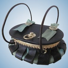 Miniature Victorian Style Sewing Basket or Purse for French Fashion Doll