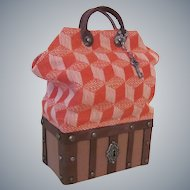 Reserved Listing for Sharon Miniature French Style Sac du Voyage or Carpet Bag Valise