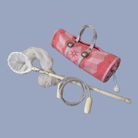 Miniature Duffel Butterfly Net and Jump Rope