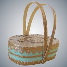 Handmade Candy Container as Purse or Basket for French Fashion Doll