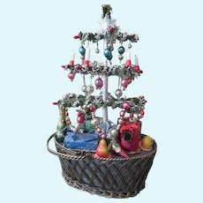 Miniature Antique Style Table Top Christmas Tree