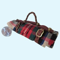 Little Carriage Blanket or Picnic Blanket in Leather Strap
