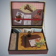 Miniature Antique Style Travel Desk or Papeterie