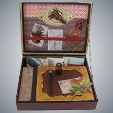 Miniature Antique Style Travel Desk or Papeterie