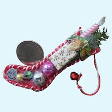 Sweet Little Vintage Style Filled Christmas Stocking