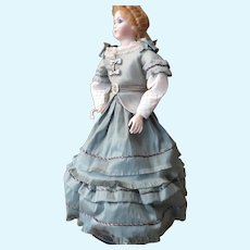 "Exquisite Two Piece Silk Dress Ensemble for 15"" Doll"