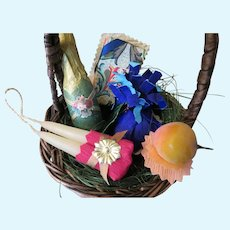 Basket of Good Cheer Miniature Victorian Christmas Basket