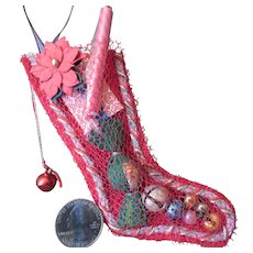 Little Vintage Style Filled Christmas Stocking