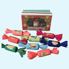 Miniature Party Crackers in Christmas Box