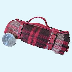 Miniature Red Plaid Carriage Blanket