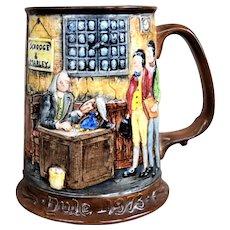 Vintage 1973 Beswick Royal Doulton Limited Edition Charles Dickens Christmas Carol Tankard Mug